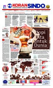 Cover Koran Sindo 22 Februari 2019
