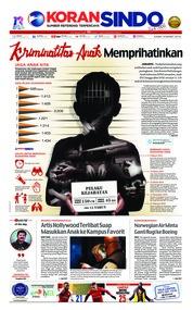 Cover Koran Sindo 14 Maret 2019