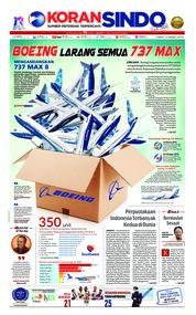 Cover Koran Sindo 15 Maret 2019