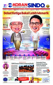 Cover Koran Sindo 17 Maret 2019