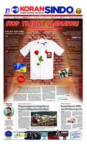 Cover Koran Sindo 19 Maret 2019