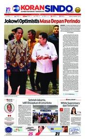 Cover Koran Sindo 20 Maret 2019