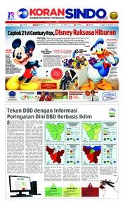 Cover Koran Sindo 21 Maret 2019