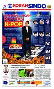 Cover Koran Sindo 23 Maret 2019
