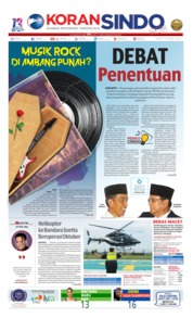 Cover Koran Sindo 13 April 2019