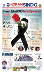 Cover Koran Sindo 13 Mei 2019