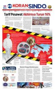 Cover Koran Sindo 14 Mei 2019