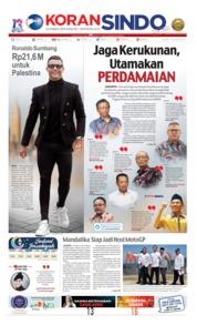 Cover Koran Sindo 18 Mei 2019