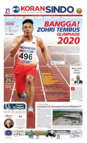 Cover Koran Sindo 20 Mei 2019
