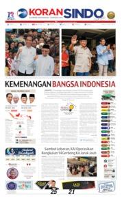 Cover Koran Sindo 22 Mei 2019