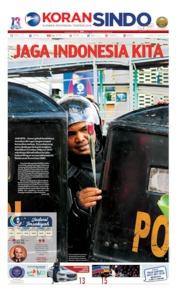 Cover Koran Sindo 23 Mei 2019