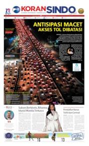 Cover Koran Sindo 10 Juni 2019