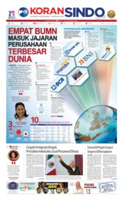 Cover Koran Sindo 14 Juni 2019