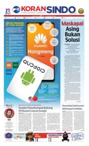 Cover Koran Sindo 15 Juni 2019