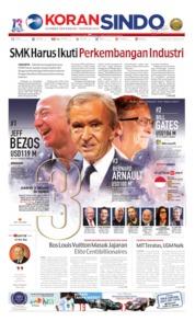 Cover Koran Sindo 20 Juni 2019