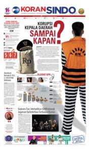 Cover Koran Sindo 12 Juli 2019