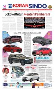 Cover Koran Sindo 15 Juli 2019