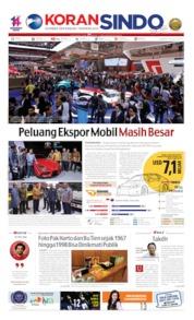 Cover Koran Sindo 19 Juli 2019