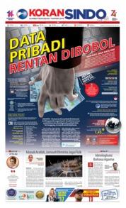 Cover Koran Sindo 09 Agustus 2019