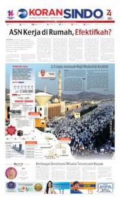 Cover Koran Sindo 10 Agustus 2019