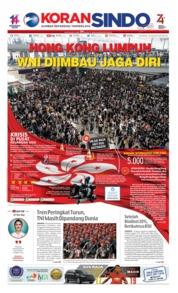 Cover Koran Sindo 13 Agustus 2019