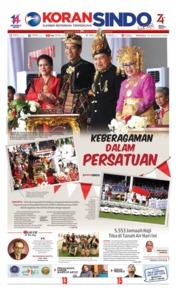 Cover Koran Sindo 18 Agustus 2019