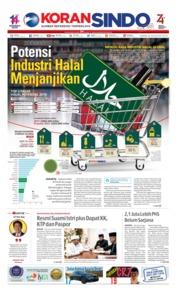 Cover Koran Sindo 22 Agustus 2019