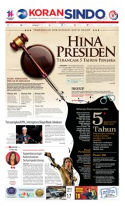 Cover Koran Sindo 19 September 2019