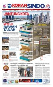 Cover Koran Sindo 21 September 2019