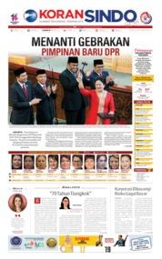 Koran Sindo Cover 02 October 2019