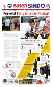 Cover Koran Sindo 11 Oktober 2019
