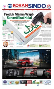 Cover Koran Sindo 17 Oktober 2019