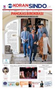 Cover Koran Sindo 21 Oktober 2019