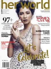 Her world Indonesia Magazine Cover December 2016