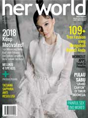 Cover Majalah her world Indonesia Januari 2018