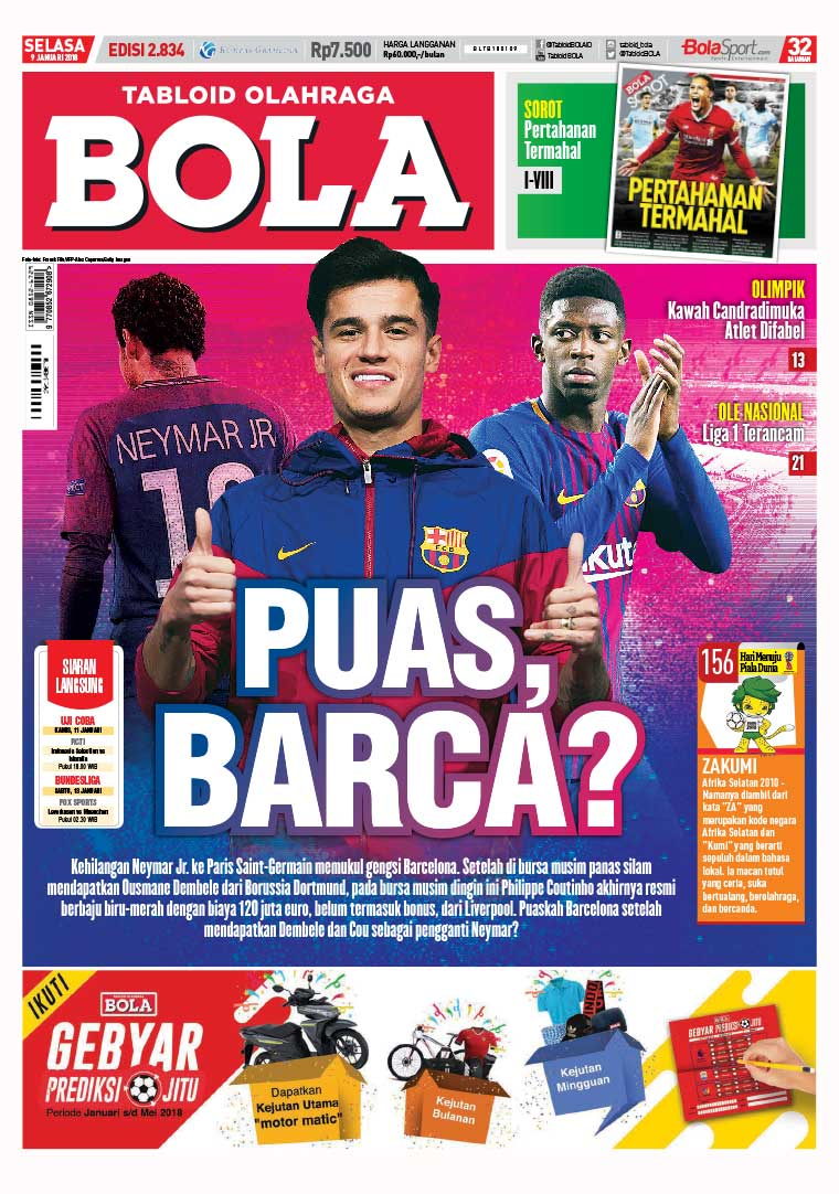 Tabloid Bola Digital Magazine ED 2834 January 2018