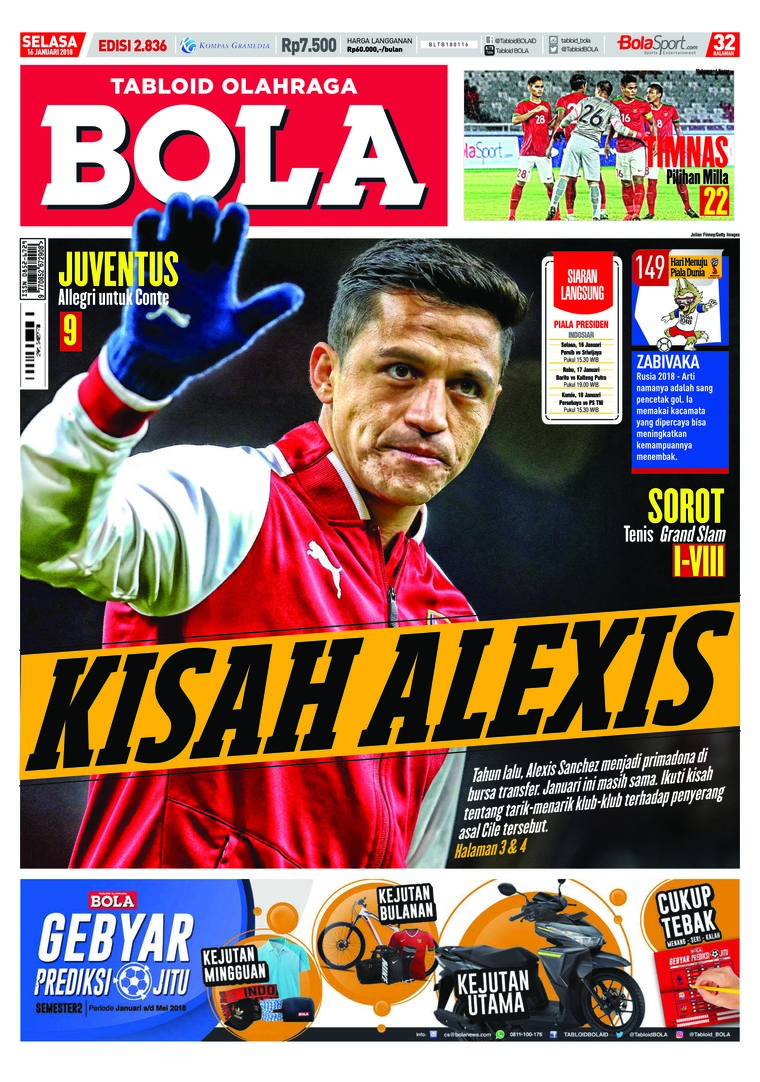 Majalah Digital Tabloid Bola ED 2836 Januari 2018