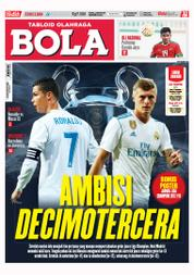 Cover Majalah Tabloid Bola ED 2800 September 2017