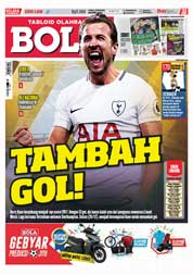 Cover Majalah Tabloid Bola ED 2830 Desember 2017