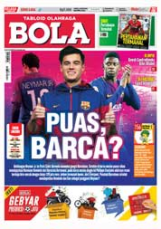 Cover Majalah Tabloid Bola ED 2834 Januari 2018