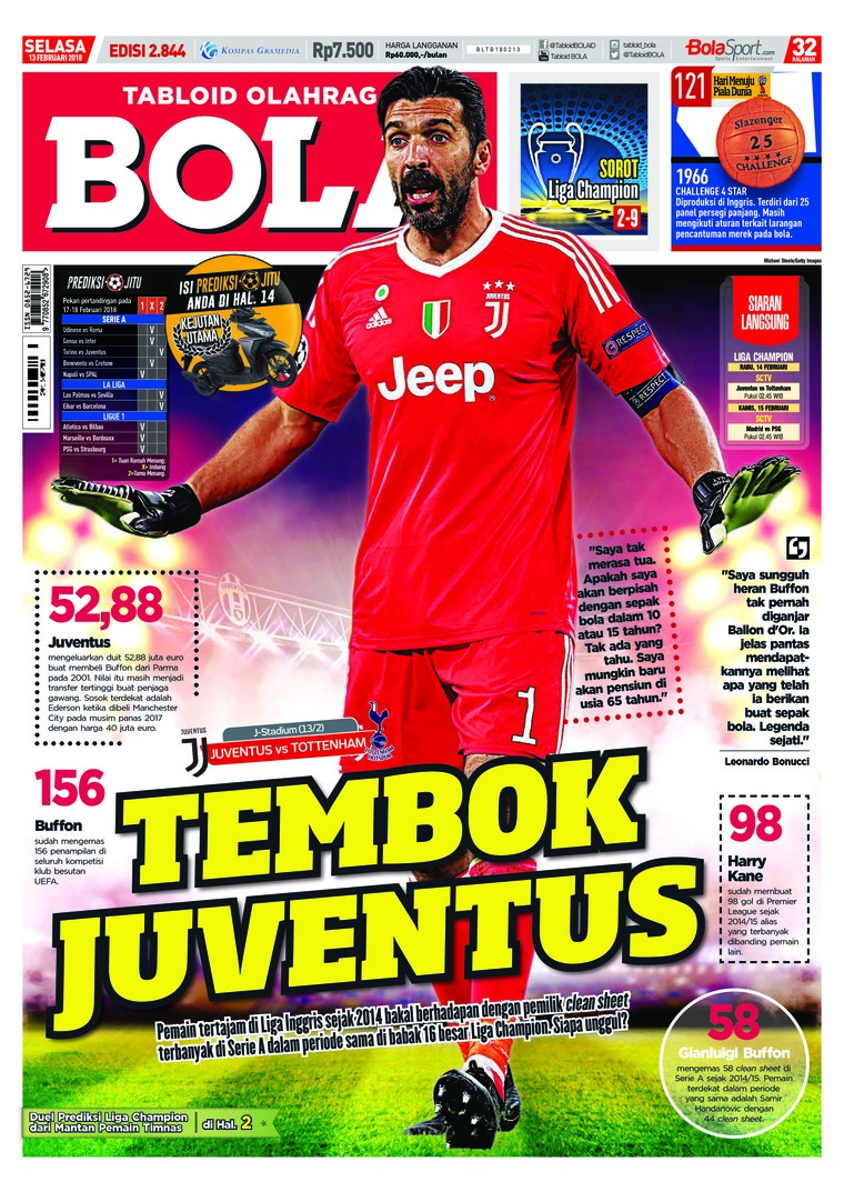 Majalah Digital Tabloid Bola ED 2844 Februari 2018