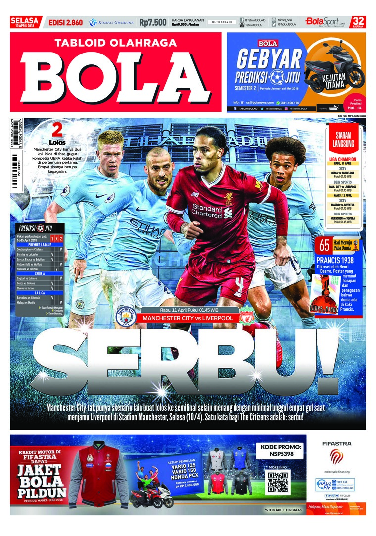 Majalah Digital Tabloid Bola ED 2860 April 2018