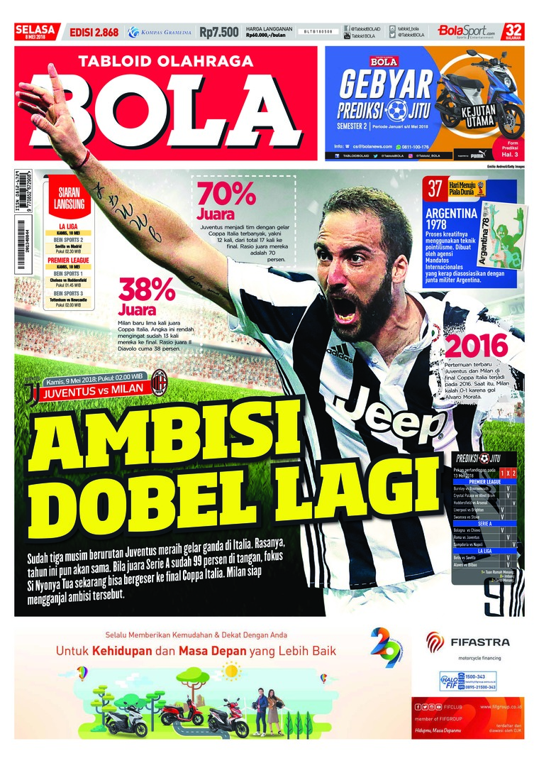 Tabloid Bola Digital Magazine ED 2868 May 2018