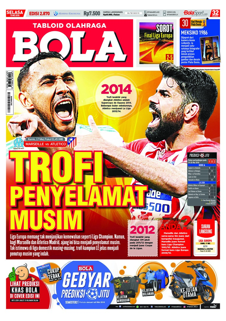 Majalah Digital Tabloid Bola ED 2870 Mei 2018
