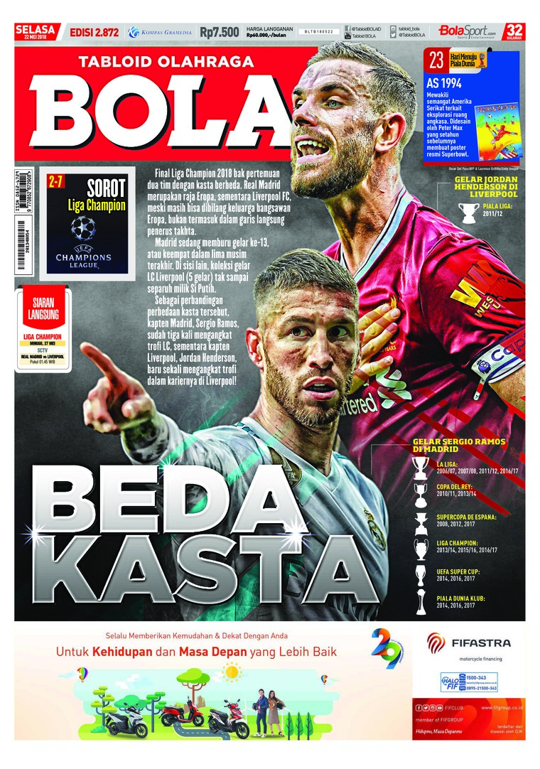 Majalah Digital Tabloid Bola ED 2872 Mei 2018