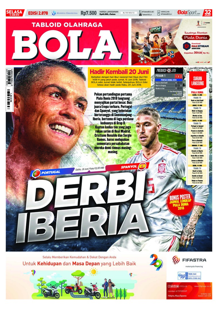 Majalah Digital Tabloid Bola ED 2878 Juni 2018