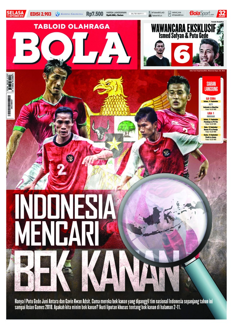 Majalah Digital Tabloid Bola ED 2903 September 2018
