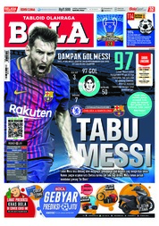 Cover Majalah Tabloid Bola ED 2846 Februari 2018
