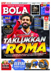 Cover Majalah Tabloid Bola ED 2866 April 2018