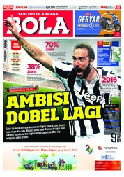 Cover Majalah Tabloid Bola ED 2868 Mei 2018